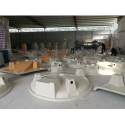 圆形冷却塔生产现场